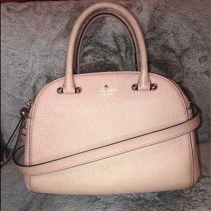 Kate spade crossbody satchel two zipper light pink